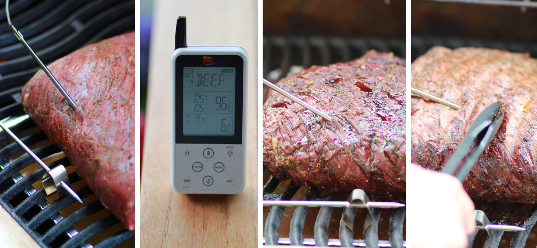 Brisket - Rinderbrust grillen - Fleischthermometer