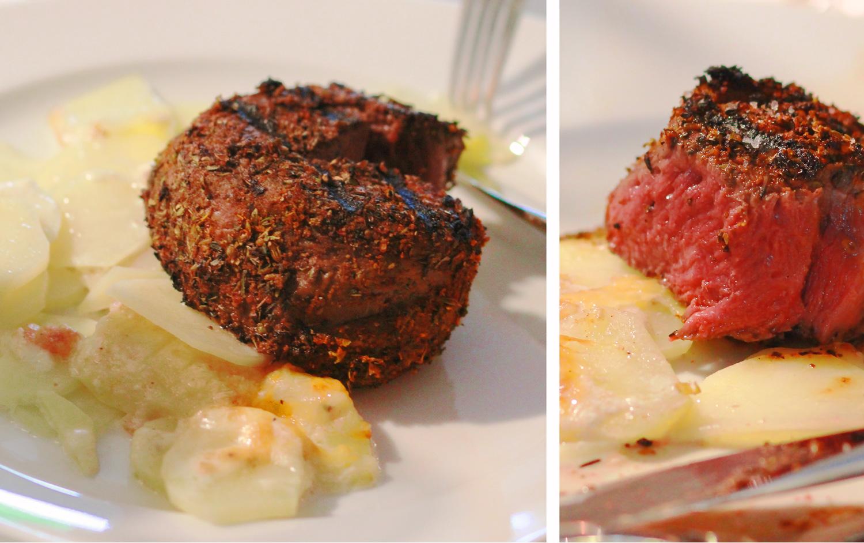 Rinderfilet Steak Blackened Medium