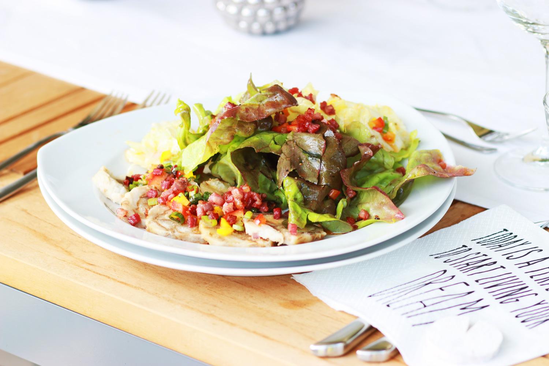 Sommer-Salat Semmelknödel Carpaccio
