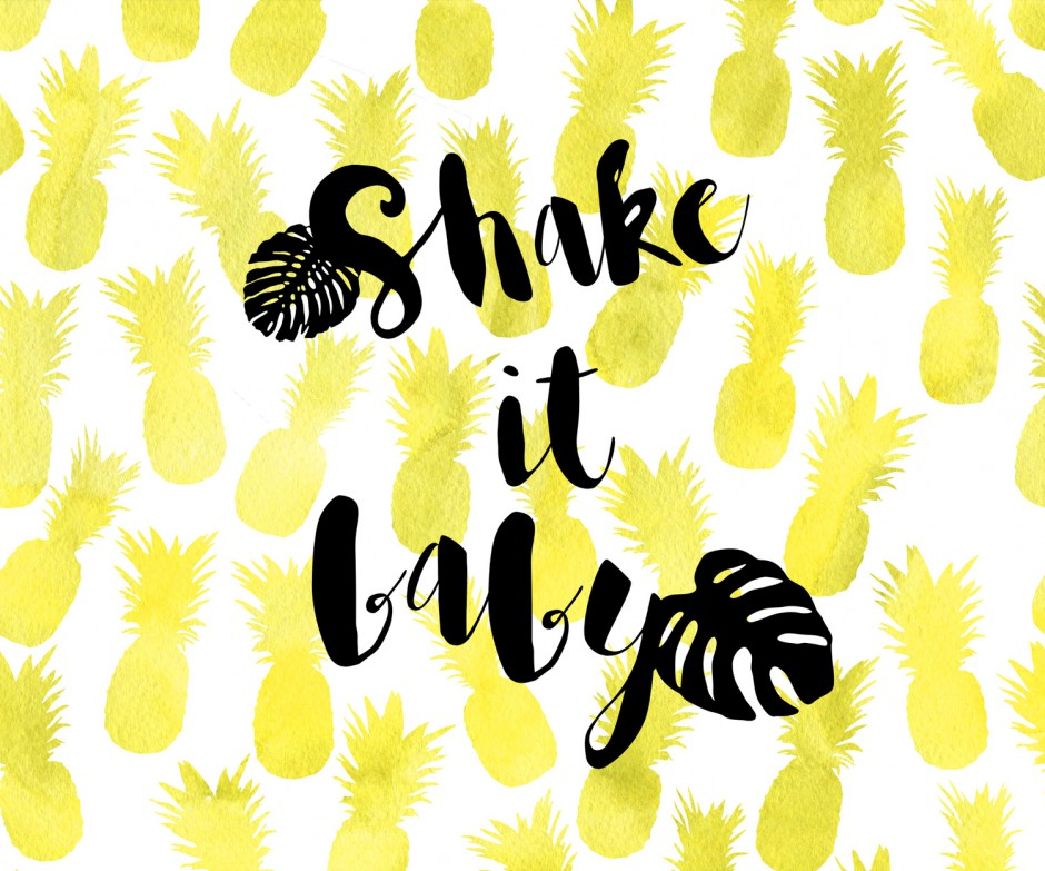 Shake it Baby! Ananas Spinat Smoothie